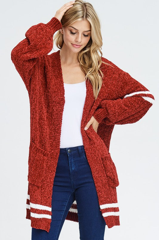 THE RED WOLF CHENILLE SWEATER