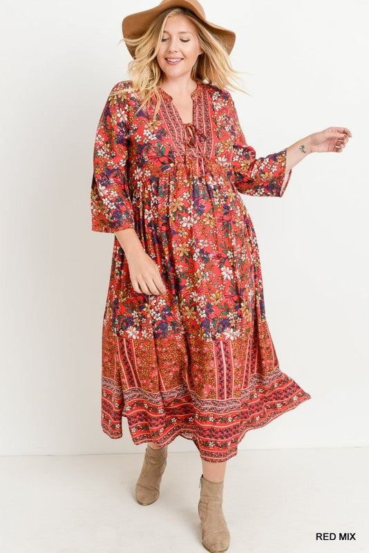 PLUS RIGHT BACK TO IT GYPSY DRESS