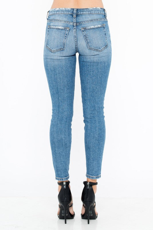 STATE LIGHTLY DISTRESSED JEANS