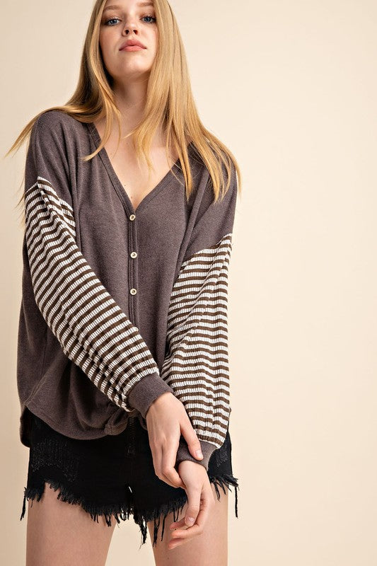 MUSTARD SEED STRIPE TOP
