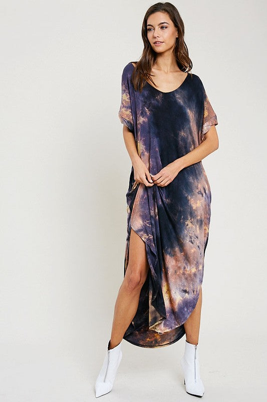 IN EVERY DIRECTION MAXI TIE DYE DRESS