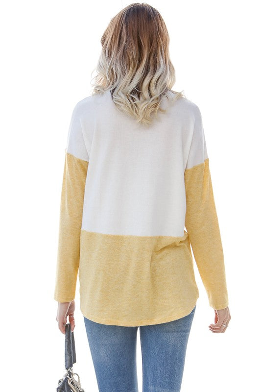 FAVORITE OBSESSION YELLOW BLOCK TOP