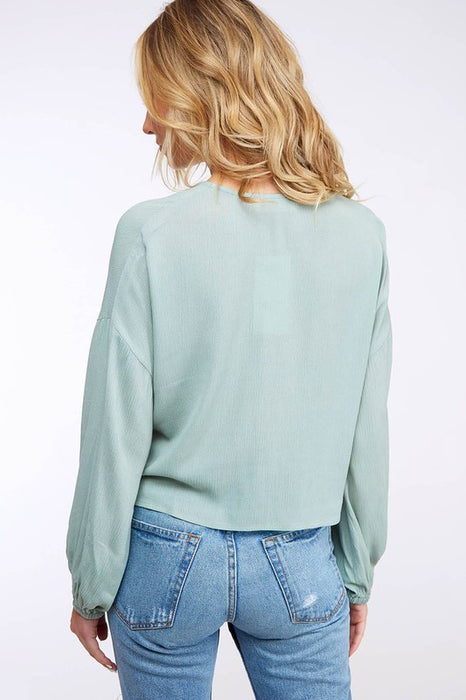 STOP FOR NOTHING FRONT BUTTON CROP TOP
