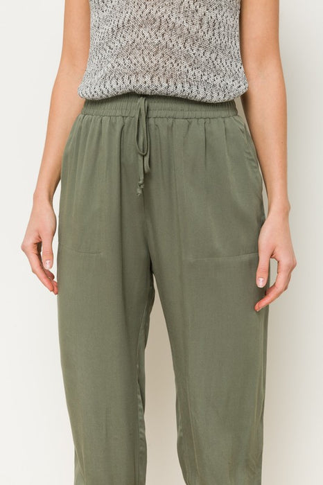 THE HYPE OLIVE DRAWSTRING PANTS