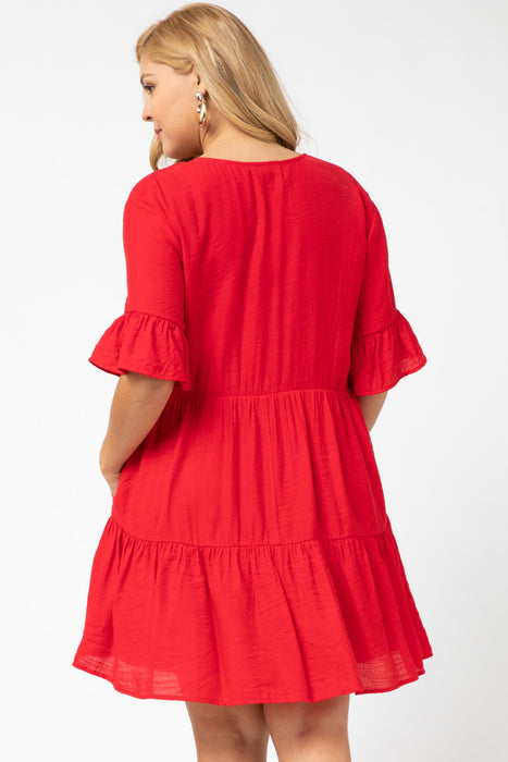 RIPE FOR SPRING PLUS DRESS