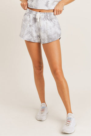 Load image into Gallery viewer, Lounge With Me Tie Dye Terry Shorts | Grey