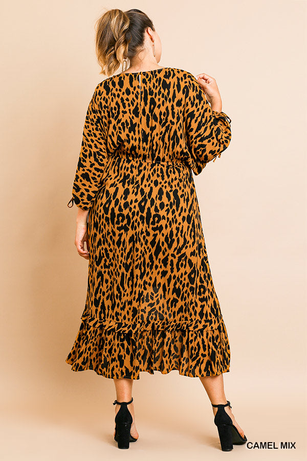 PLUS-GOING PLACES ANIMAL PRINT DRESS