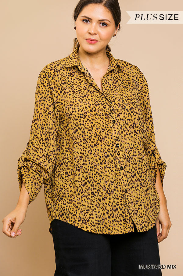 PLUS-SOMETHING ABOUT ANIMAL PRINT TOP