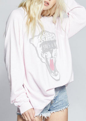Load image into Gallery viewer, RECYCLED KARMA SHE'S A VIBE SWEATSHIRT - shopbellabird