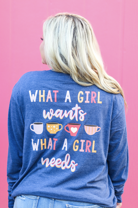 JADELYNN BROOKE WHAT A GIRL WANTS LS TEE