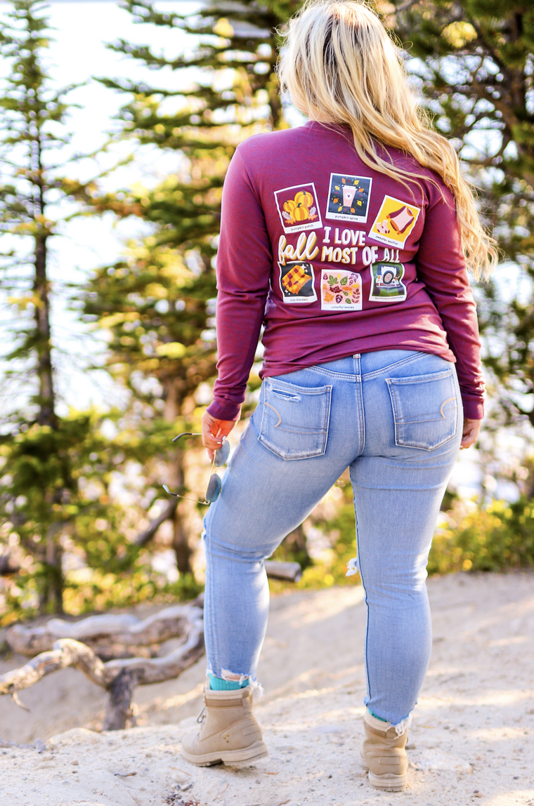 JADELYNN BROOKE I LOVE FALL LS TEE
