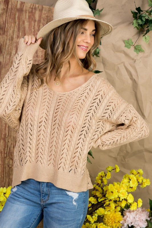 THE GOOD LIFE TWIST SWEATER