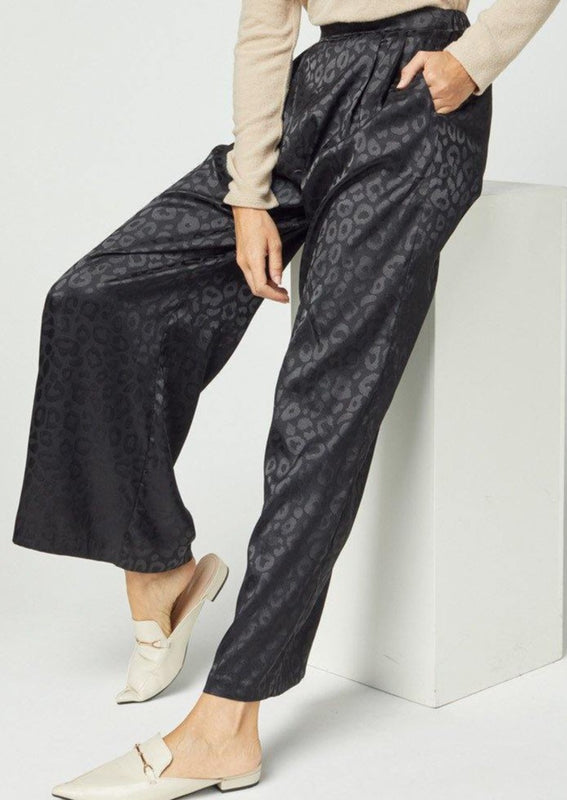 A HOLIDAY EVENT SATIN TROUSER PANTS