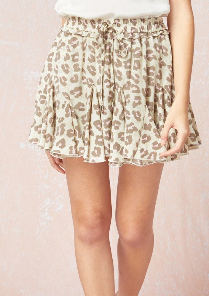 Come And Get Your Love Leopard Skort | Sand