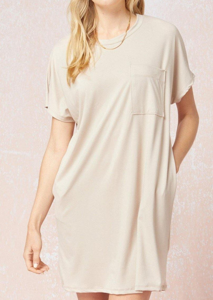 Make You See T-Shirt Dress | Oyster - shopbellabird