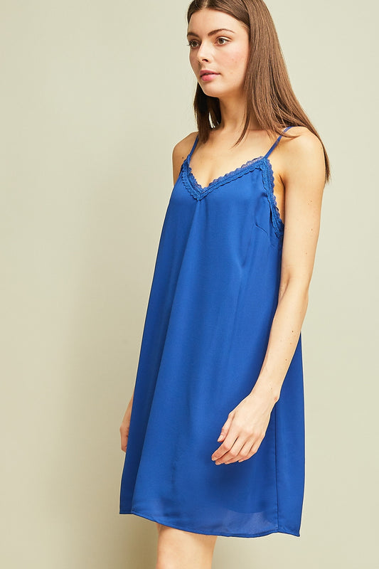 KISS GOODBYE ROYAL BLUE DRESS
