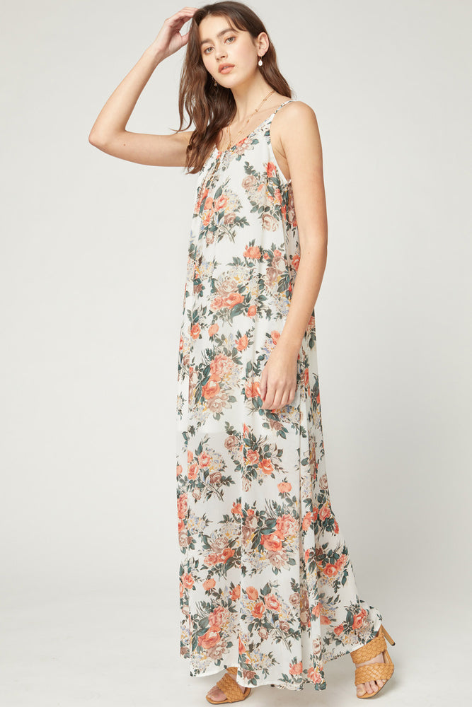 Load image into Gallery viewer, Always Moving Floral Maxi Dress | ivory