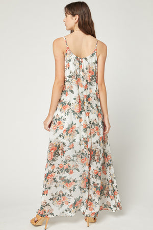 Always Moving Floral Maxi Dress | ivory