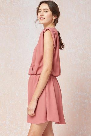 Finally Found You Shoulder Pad Dress | Salmon