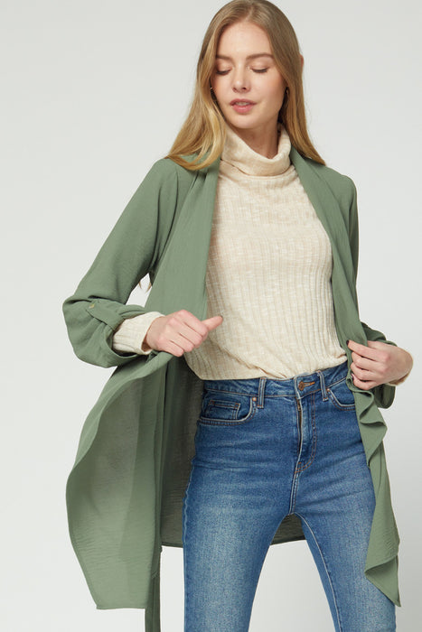 SPACE COWBOY OLIVE DRAPED JACKET