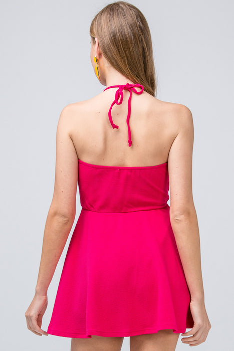 WATERMELON SUGAR MAGENTA MINI DRESS