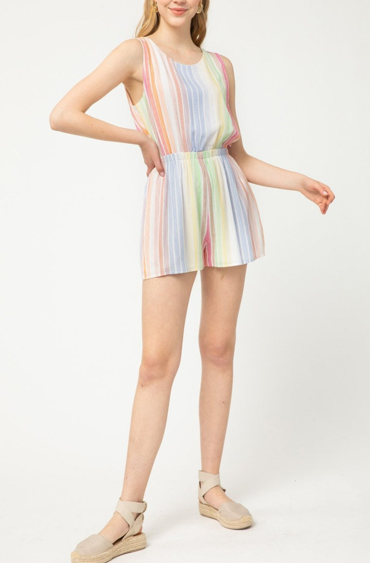 SLICE OF THE RAINBOW ROMPER