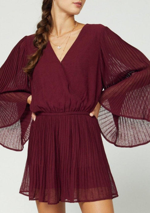 SHOWING OFF BURGUNDY ROMPER