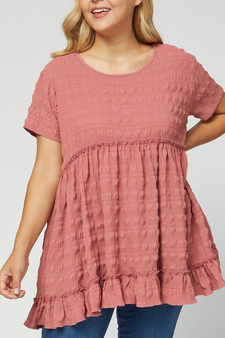 CURVY FALL FESTIVAL FAVORITE MARSALA TOP
