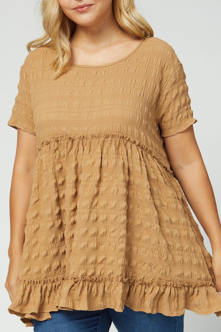 CURVY FALL FESTIVAL FAVORITE MOCHA TOP