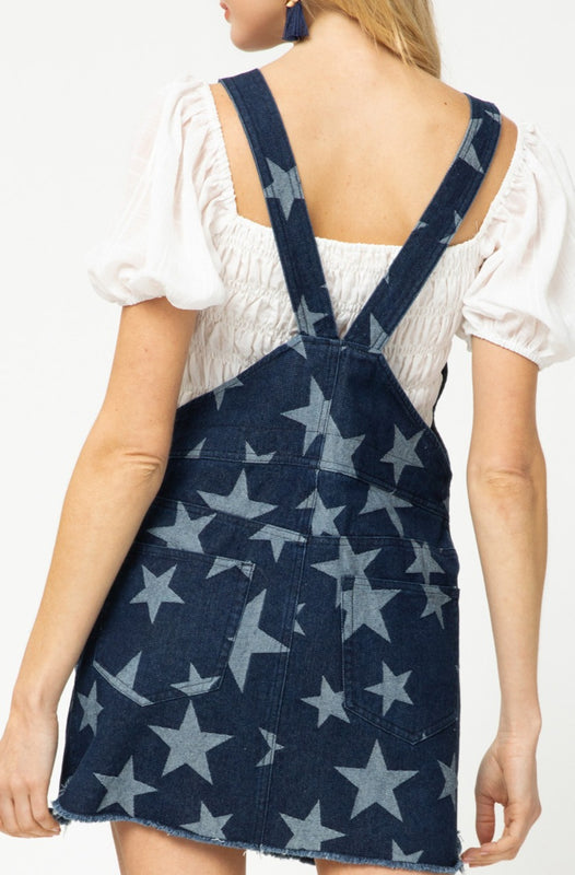 STARRY EYED SKIRT OVERALLS
