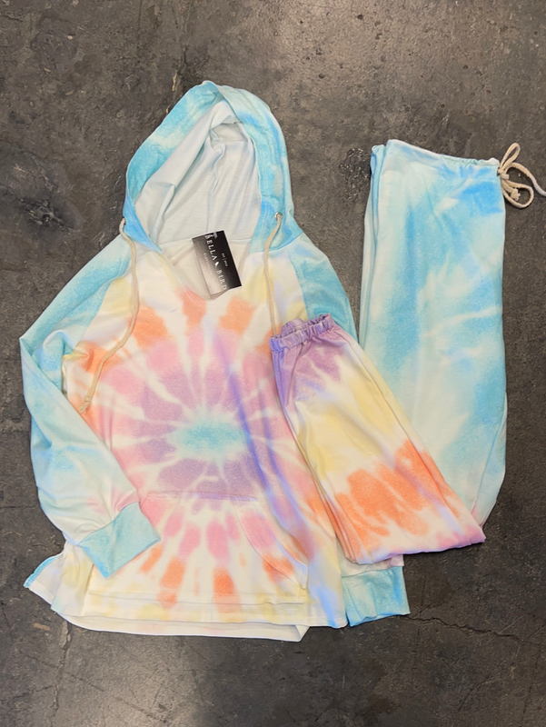 JUST LOUNGING TIE DYE JOGGER SET