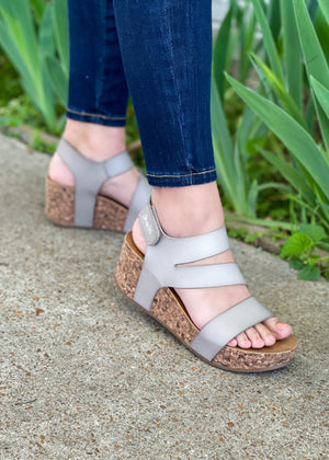 SUMMER FUN WEDGED HEEL | Grey