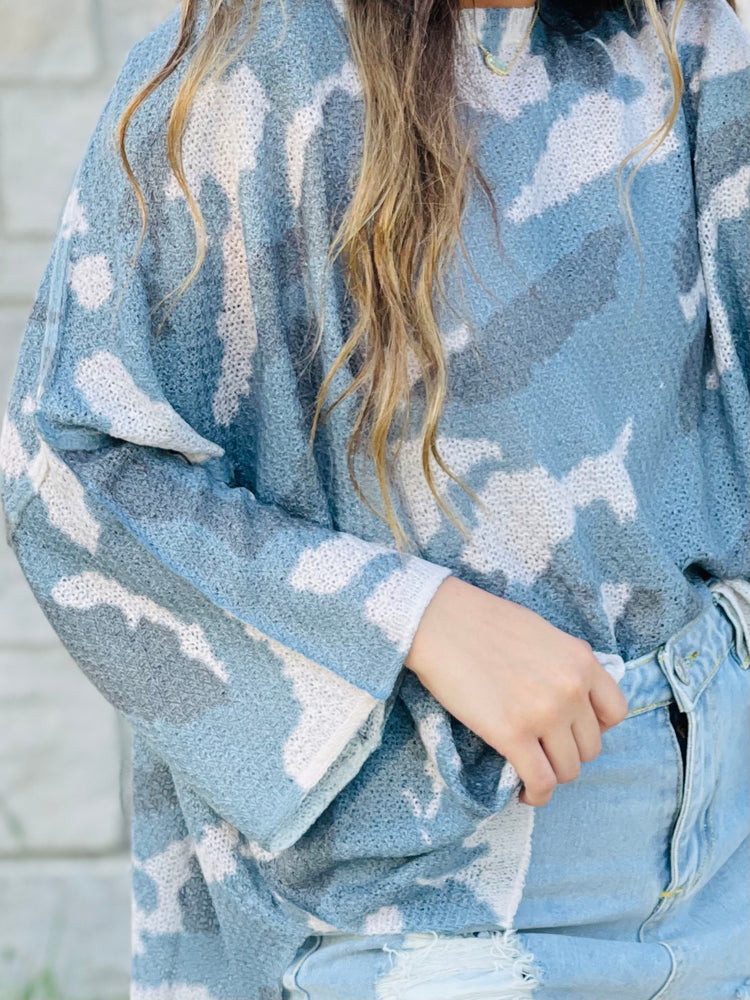 DON'T LET ME DOWN LIGHT SWEATER | CAMO