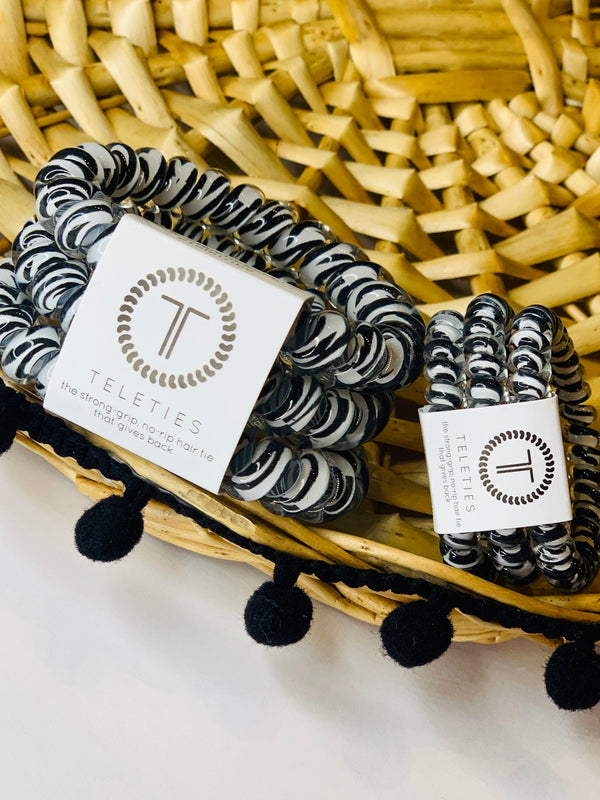 SMALL ZEBRA TELETIES SET