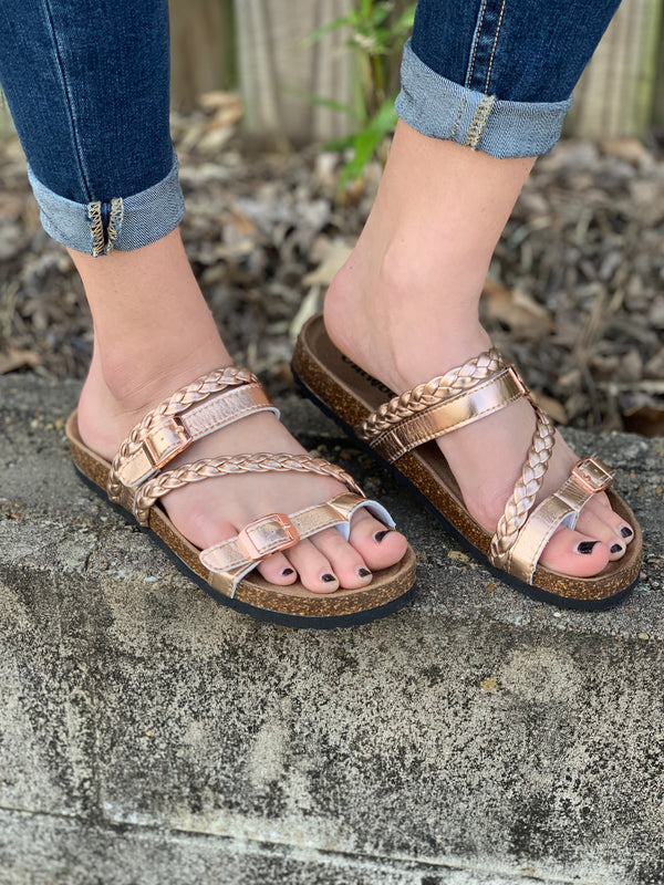 OUTWOODS ROSE GOLD SANDAL