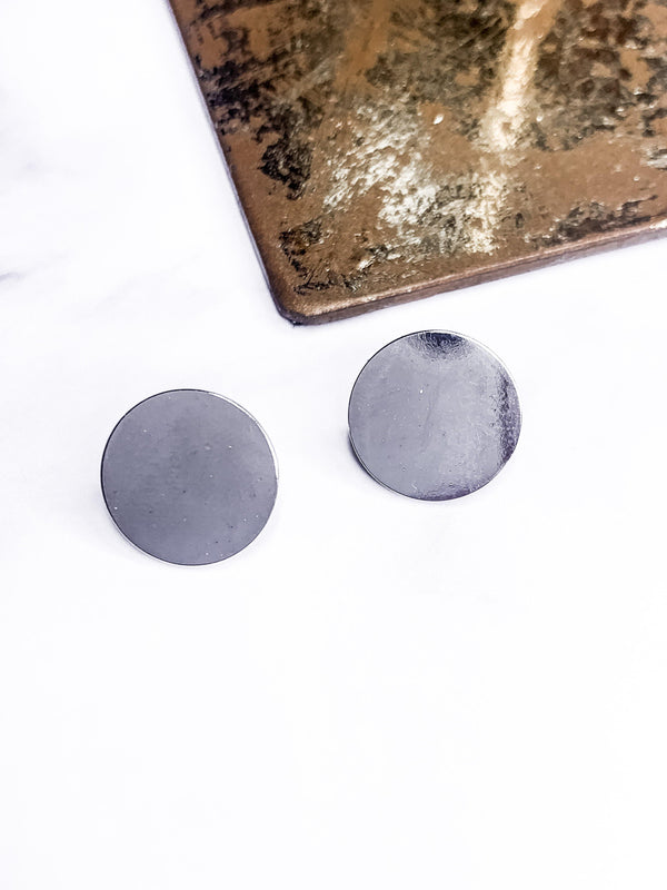 SIMPLICITY SILVER CIRCLE EARRINGS