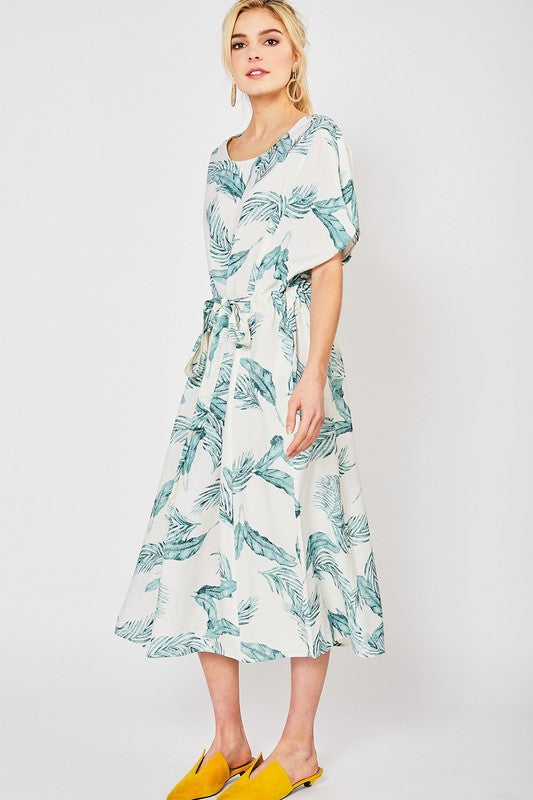 JUST A PALM LEAF IN THE WIND DRESS