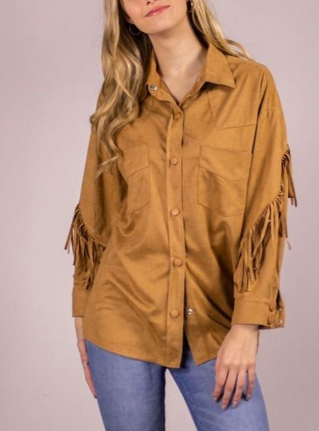 COWGIRLS DON'T CRY FRINGE TOP