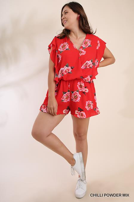 PLUS CHILLI POWDER FLORAL ROMPER
