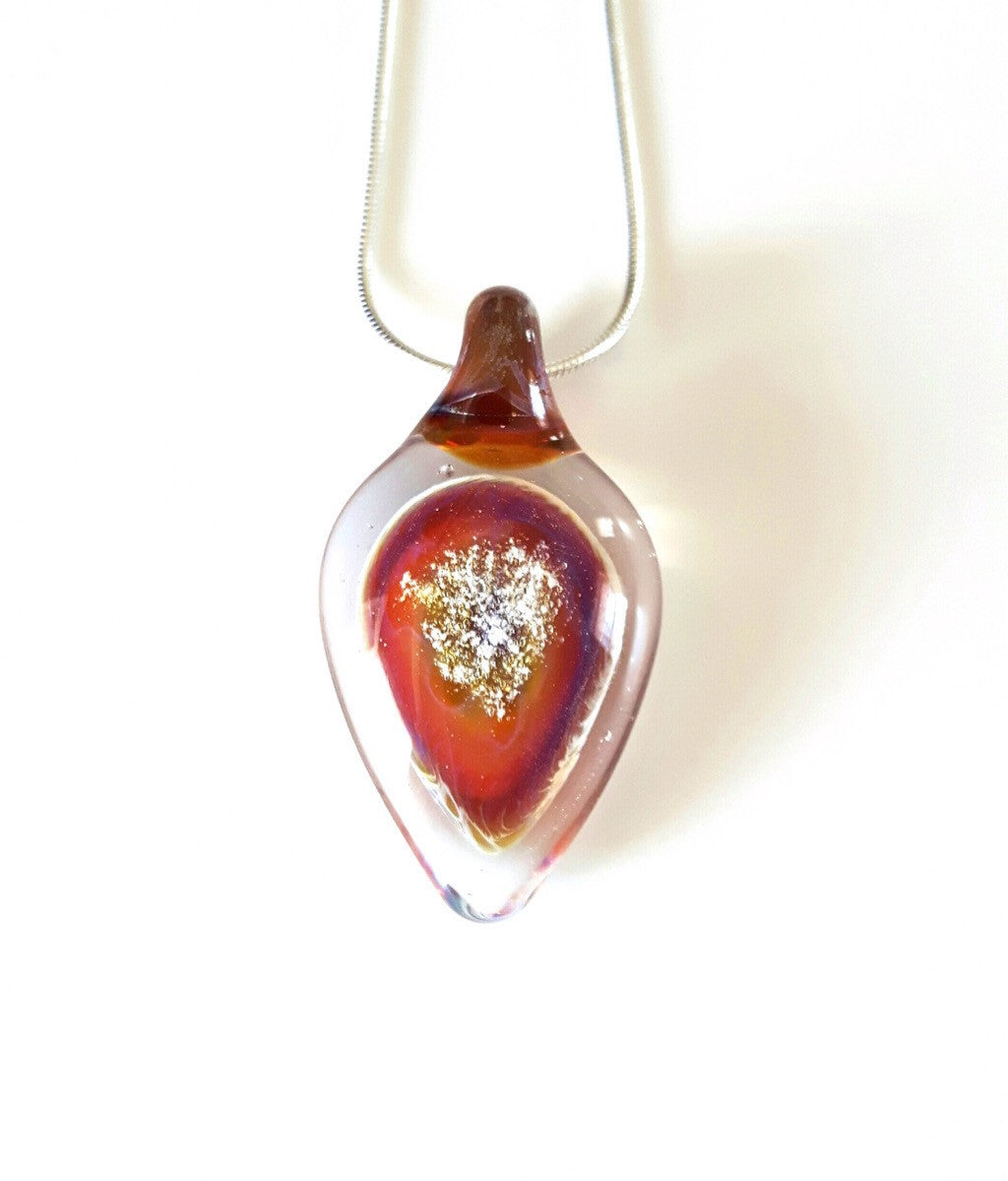 Ashes into Glass Tear Drop Pendant-Forever Fused