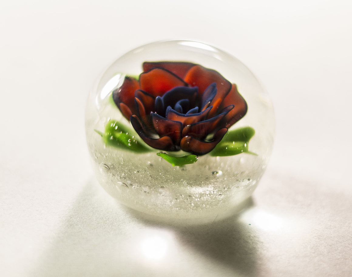 Hand Blown Cremation Ash Comfort Stone-Forever Fused