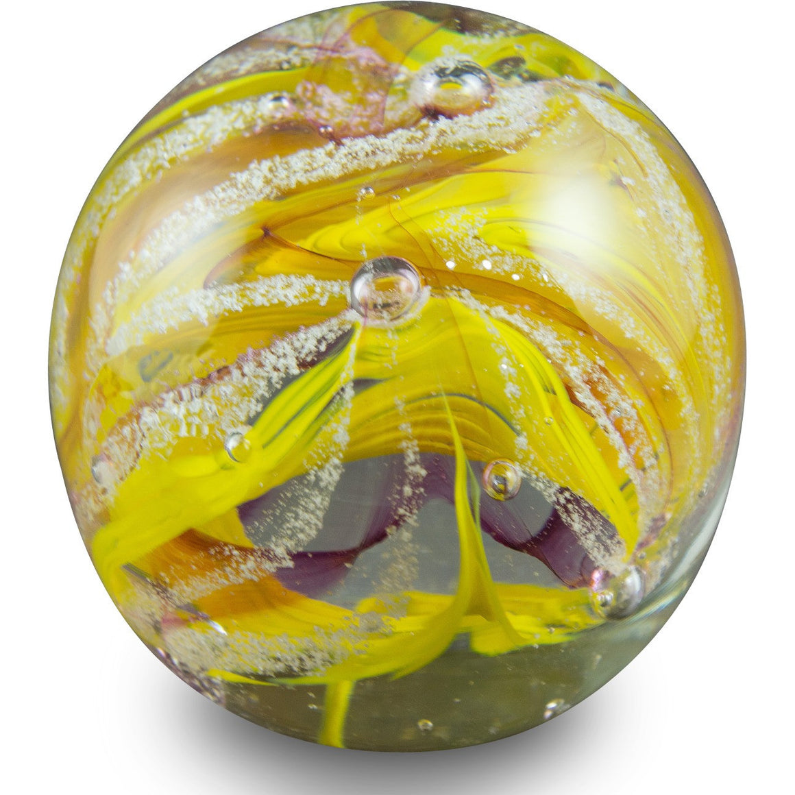 Handcrafted Memorial Cremation Swirl Globe-Forever Fused