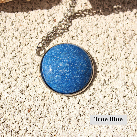 Handmade Resin Pendant with Cremains, Fur or Hair