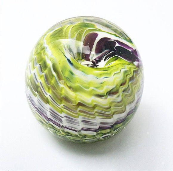 Memorial Art Ribbed Wave Paperweight-5 Colour Options-Forever Fused