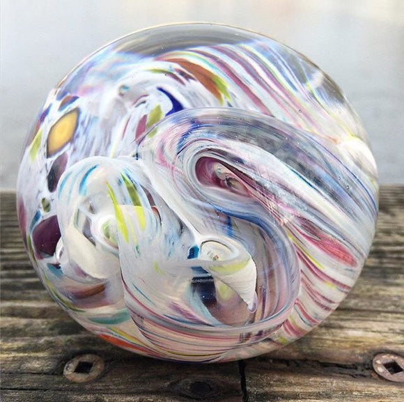 Remembrance Glass Ball -Dream Time-Forever Fused
