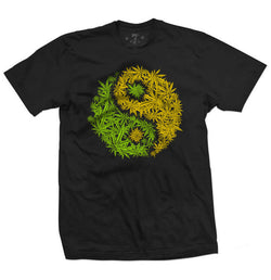 420 YinYang leaf tee-Men's tees-7threvolution.com