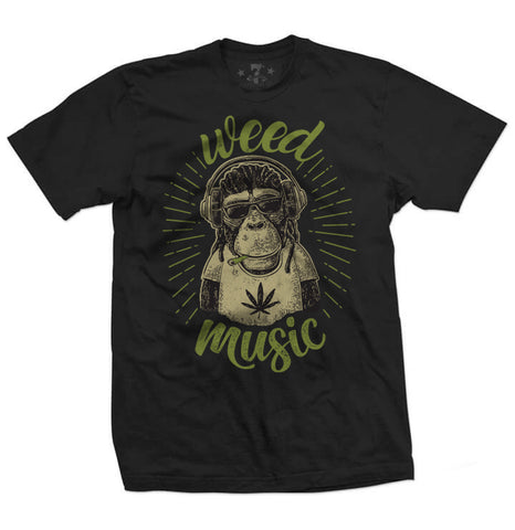 420 Weed+Music t-shirt-Men's tees-7threvolution.com