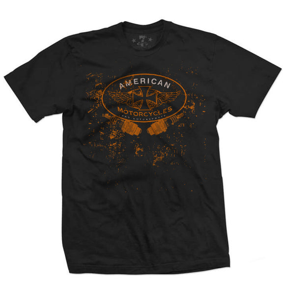 7th Revolution American Moto men's tee