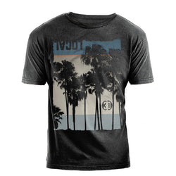 Local Palm Print Vintage-Wash Short Sleeve T-Shirt-mens t-shirt-7threvolution.com