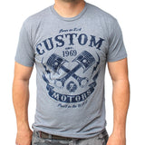 Custom Motors men's tee-Men's tees-7threvolution.com